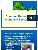 6. Common Behavioral Signs and Symptoms