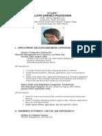 Resume Lloyd p