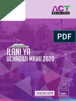 Ilani ya ACT Wazalendo 2020