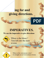 GIVING DIRECTIONS IMPERATIVES