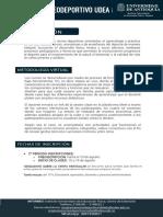 TARIFAS PROGRAMAS RECREODEPORTIVOS UdeA - 2020-2 EnCasa