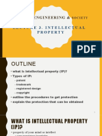 LECTURE 3. Intellectual Property