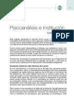 Psicoanálisis e institución