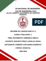 Laboratorio 6- Física I-M.A.S.