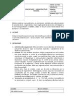 GH-P-002 CONTRATACIÓN Y ADMINISTRACIÓN DE PERSONAL