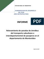 Relevamiento de Paradas. Servicios Interdepartamentales y Suburbanos. Montevideo