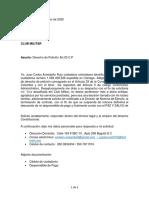 D.P CT AVENDAÑO JUAN _ CLUB MILITAR