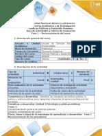 Guía de actividades y rúbrica de evaluación-Fase 1 - Reconocimiento del curso