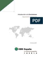 Introduccion a la Geodatabase