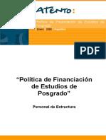 Política de Financiación Estudios de Posgrado Atento