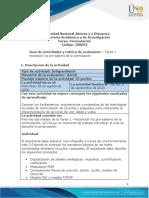 Guía de actividades y rúbrica de evaluación – Tarea 1- Reconocer los pre-saberes de la conmutación