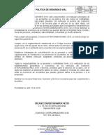 PO-03 POLÍTICA DE SEGURIDAD VIAL CI 2018