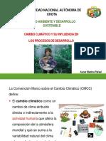 Tema 3. Cambio climatico y su influencia en los procesos de desarrollo