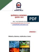 UNIDAD 1 - QUIM 102 201710