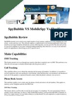 SpyBubble vs Mobile Spy vs FlexiSpy