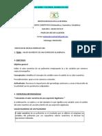 P.Cuantitativo. Guía No 4 Grado octavo. Valor numerico de una Expresión Alg.