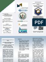 Triptico del Congreso Venezolana de Geotecnia 2020