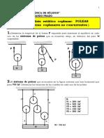 TALLER 6P - ANÁLISIS ESTÁTICO COPLANAR - POLEAS