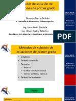 Métodos de Solución de Ecuaciones de Primer Grado