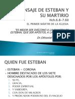 EL MENSAJE DE ESTEBAN Y SU MARTIRIO