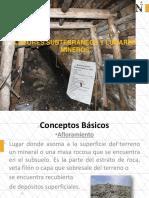 A.- LABORES SUBTERRÁNEAS Y LUGARES MINEROS