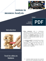 Ethical dimension in Business Analysis