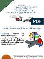 1. La Orientación Psicológica en el contexto en el ejercicio de la práctica profesional de la Psicología