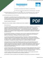 Declaración universal sobre la erradicación del hambre y la malnutricion