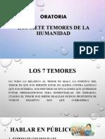 LOS SIETE TEMORES DE LA HUMANIDAD