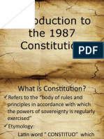 Introduction to the 1987 Constitution