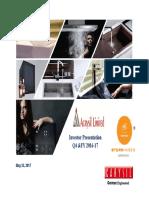 Acrysil Investor PPT - 2017