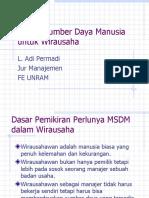 12) Fungsi SDM di wirausaha