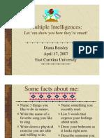 Multiple intelegence