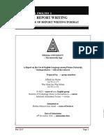 Module 2 - SAMPLE OF REPORT WRITING FORMAT