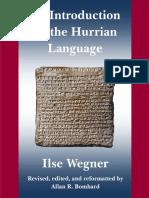 Wegner & Bomhard - An Introduction to the Hurrian Language (2020)