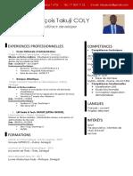 Amadou F T COLY - CV Informaticien