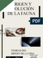 ORIGEN Y EVOLUCIÓN DE LA FAUNA -