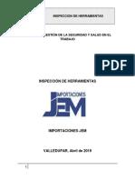 INSPECCION DE HERRAMIENTAS IMPORTACIONES JEM
