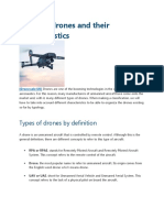 Types of Drones and Their Characteristics