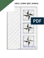 Double Pinwheel String Quilt Journal
