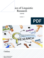 Basics of Linguistic Research- lecture - 1.pptx