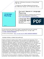 Amery - 2001 - Language planning and language revival