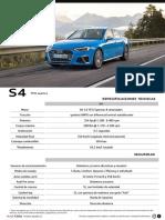 Ficha técnica Audi S4 Chile