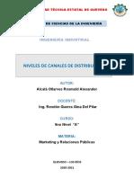 NIVELES DE CANALES DE DISTRIBUCIÓN
