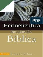 Hermeneutica, Introducción Biblica - E- Lund y a. Luce