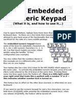 Embedded Numeric Keypad