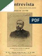 """Revista """"A Entrevista"""", 15 de Abril de 1914"""