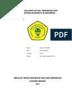Permasalahan Aktual Pendidikan Dan Penanggulangannya Di Indonesia