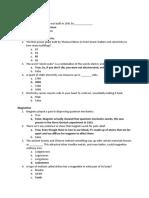 Physics Trivia Questions
