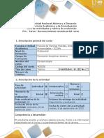 Guía de actividades y rúbrica de evaluación pre-tarea-Reconocimiento tematicas del curso